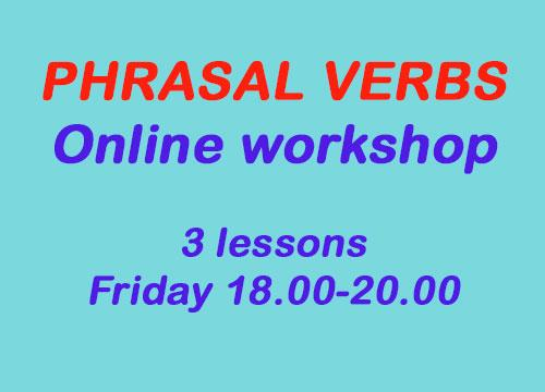 Phrasal verbs Online Workshop