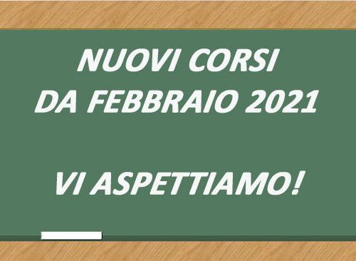 NUOVI CORSI FEBBRAIO 2021